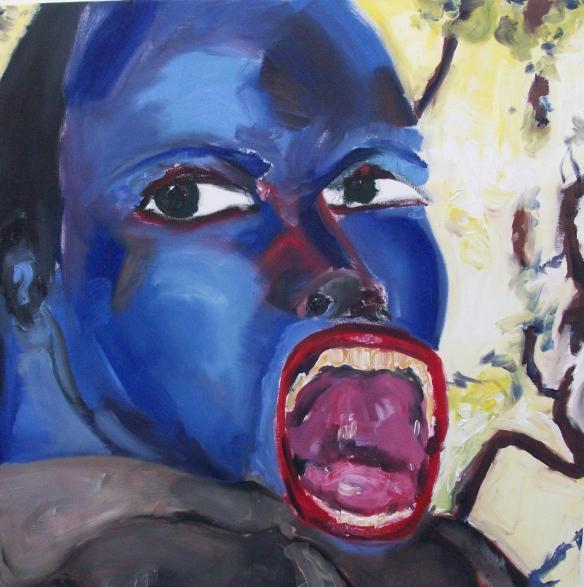 blue monkey 100cm x 100cm