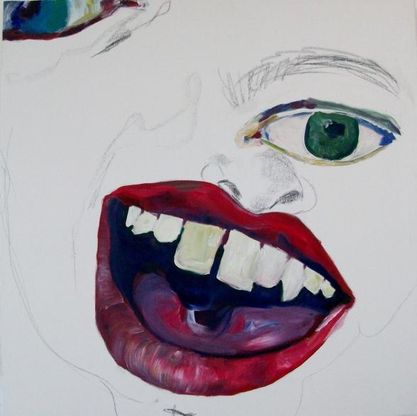 Zeichnung+Malerei=Zeichlerei 100cm x 100cm