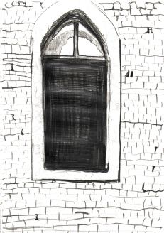Kirchenfenster passt nicht aufs Blatt